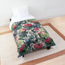 Painted Protea Pattern Comforter