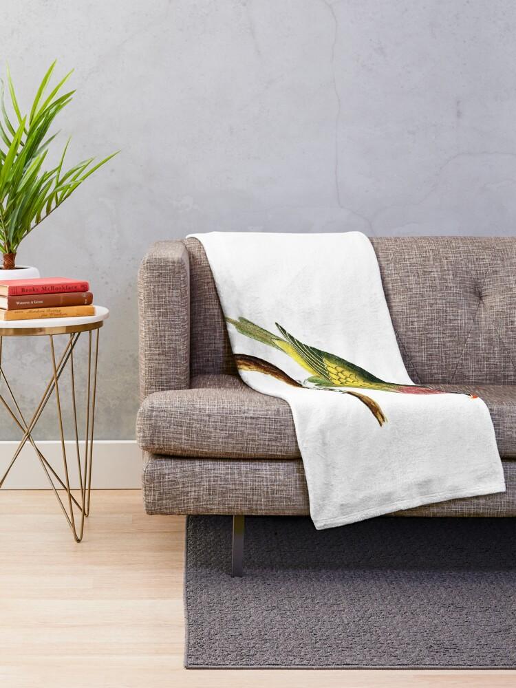 Alternate view of bird Throw Blanket