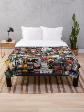 Rock Collage Collection Throw Blanket