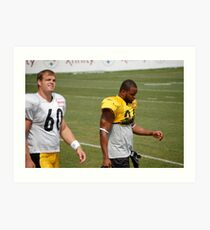 Moore and Warren at 2010 Steelers Camp Art Print