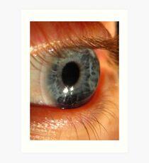 Blue Eye Macro Art Print