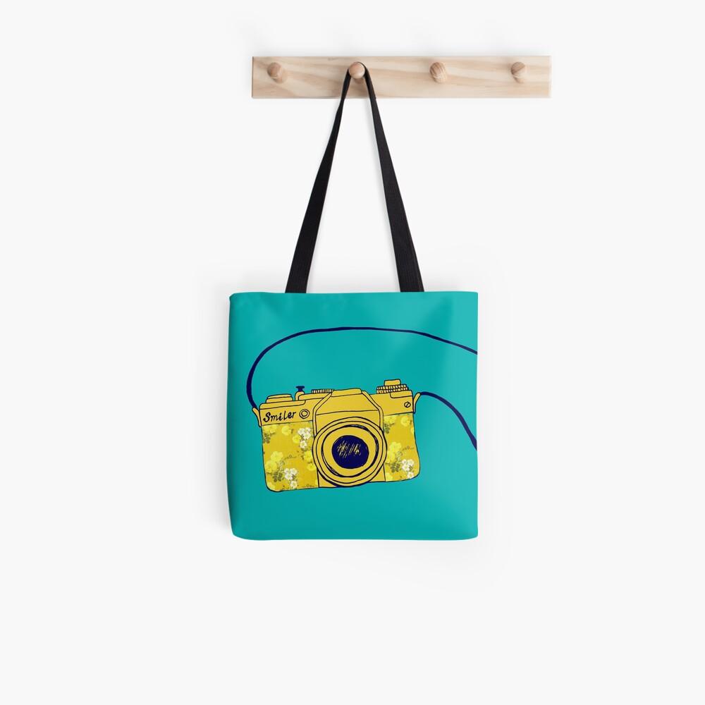 Vintage camera, retro floral vintage camera Tote Bag