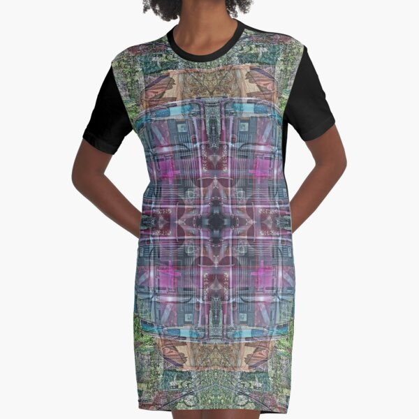 COLORFUL TATA TRUCK IN KATHMANDU NEPAL Graphic T-Shirt Dress