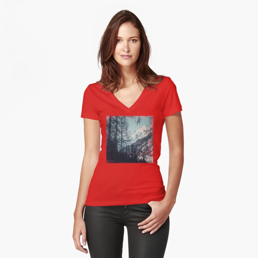 Please Come Back Fitted V-Neck T-Shirt