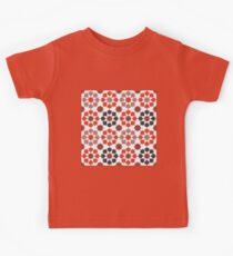 Red Color Tiles Kids Clothes