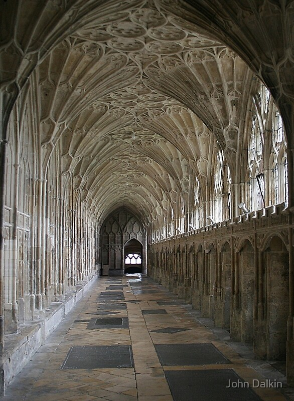 """""""Vaulted ceiling, Gloucester Cathedral"""" by John Dalkin ..."""