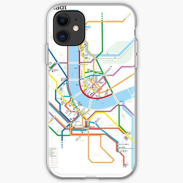 U-BAHN | BaselCitymap Artwork iPhone Flexible Hülle