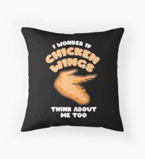 chicken wings chicken wings chicken gift foodie Floor Pillow