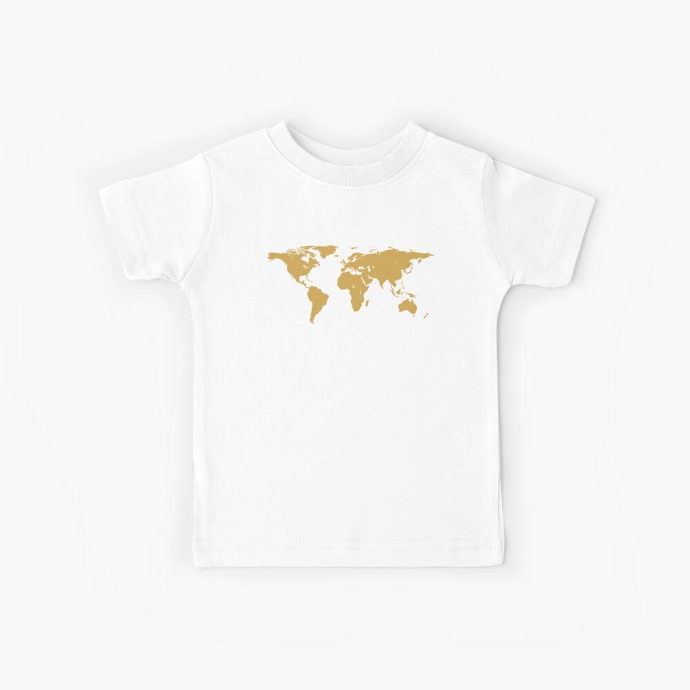 World Map | Gold | Globetrotter Kids T-Shirt