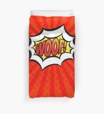 Red Pop Art Woof! Bettbezug