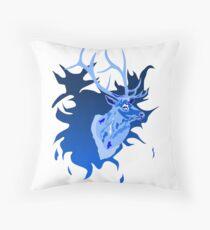 Elk in Blue Floor Pillow