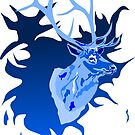 Elk in Blue by ragtagart