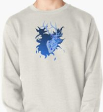 Elk in Blue Pullover Sweatshirt