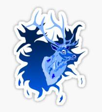 Elk in Blue Sticker