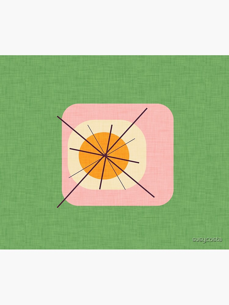 Flower Eggs Green-Pink #midcenturymodern by susycosta