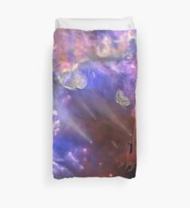 Visitors to the Castle Duvet Cover