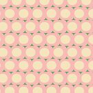 Dots and Triangles Pink  #midcenturymodern by susycosta