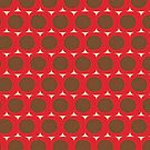 Dots and Triangles Red  #midcenturymodern by susycosta