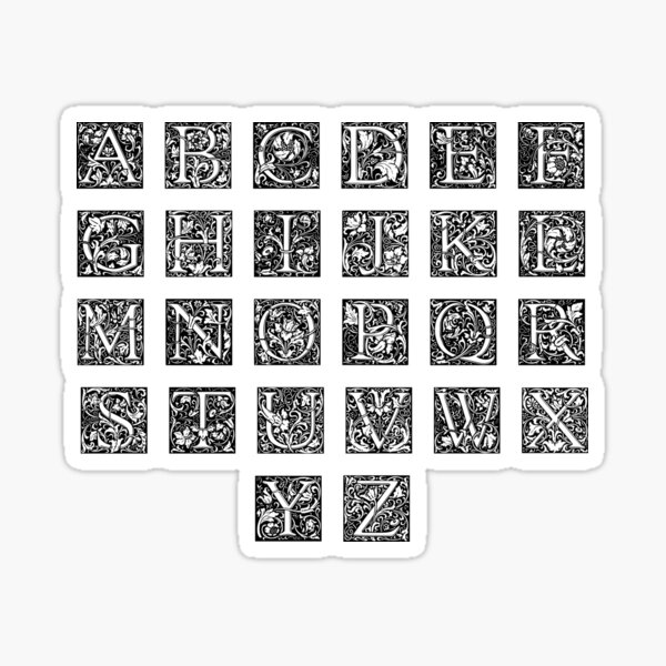 Florist Alphabet Sticker