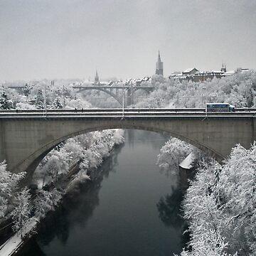 Lorraine Bridge in Winter by mhowellsmead