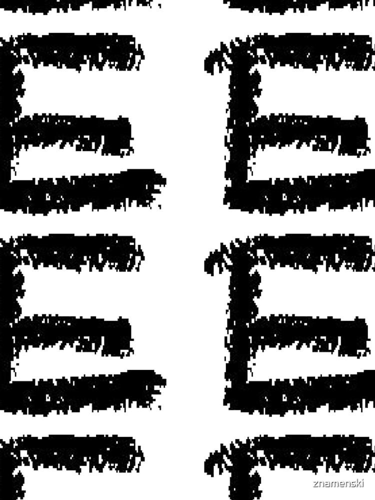 E #E alphabet art scribble typescript font #sign #symbol typeset #letter by znamenski