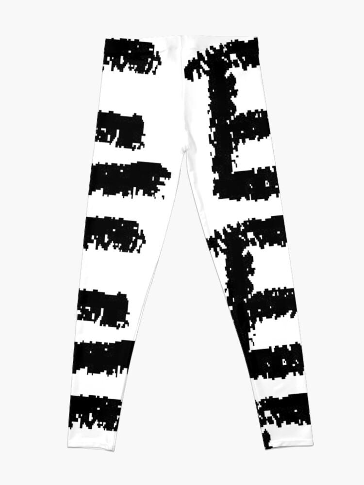 Alternate view of E #E alphabet art scribble typescript font #sign #symbol typeset #letter Leggings