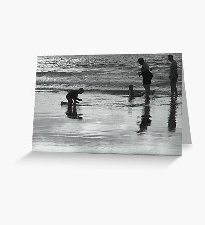 Family Silhouette Greeting Card