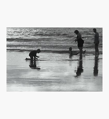 Family Silhouette Photographic Print