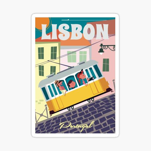 Lisbon poster Sticker