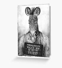 Mugshot Greeting Card