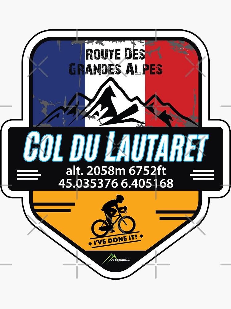 Col du Lautaret T-Shirt & Sticker - Route des Grandes Alpes - Ive Done It! by OuterShellUK