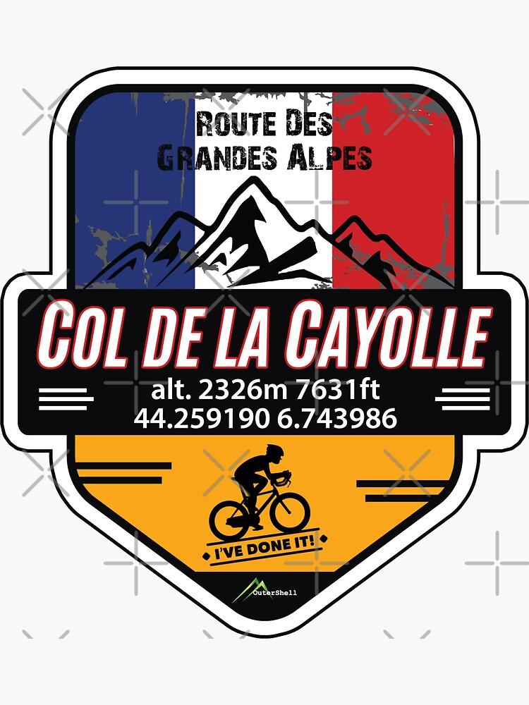 Col de la Cayolle Cycle T-Shirt & Sticker - Route des Grandes Alpes - Ive Done It! by OuterShellUK