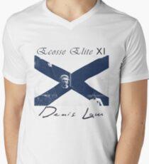 Ecosse Elite XI. Denis Law Men's V-Neck T-Shirt