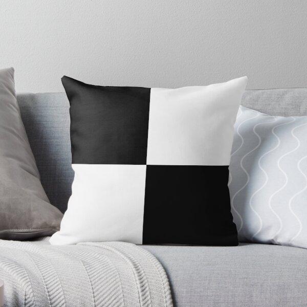 #Art, #blank, #horizontal, #black color, white color, typescript Throw Pillow