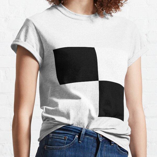 #Art, #blank, #horizontal, #black color, white color, typescript Classic T-Shirt