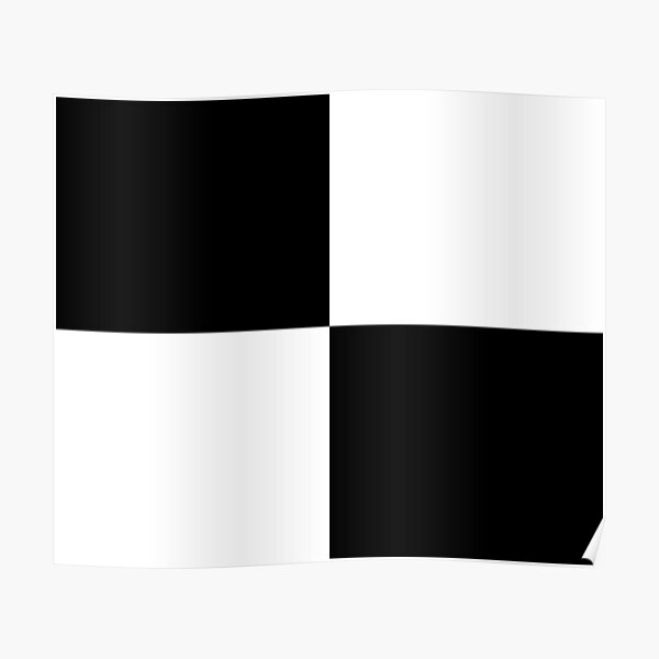 #Art, #blank, #horizontal, #black color, white color, typescript Poster
