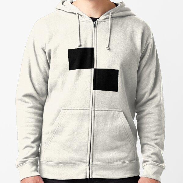 #Art, #blank, #horizontal, #black color, white color, typescript Zipped Hoodie