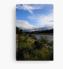 A view the river bank  Canvas Print