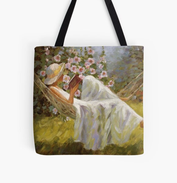 In A World Of Her Own All Over Print Tote Bag