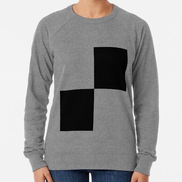 #Art, #blank, #horizontal, #black color, white color, typescript Lightweight Sweatshirt
