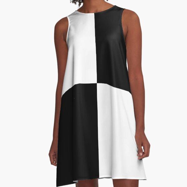 #Art, #blank, #horizontal, #black color, white color, typescript A-Line Dress