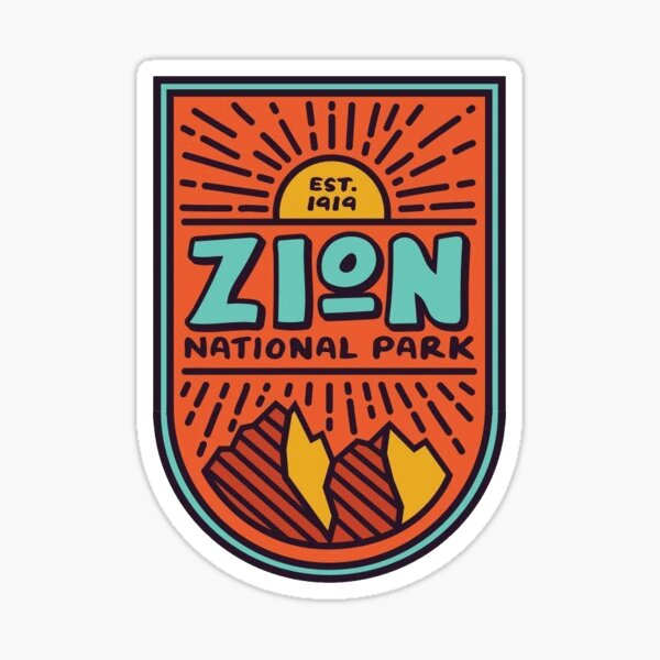 Zion National Park Sticker Sticker