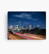 Houston ist jemand Skyline Leinwanddruck