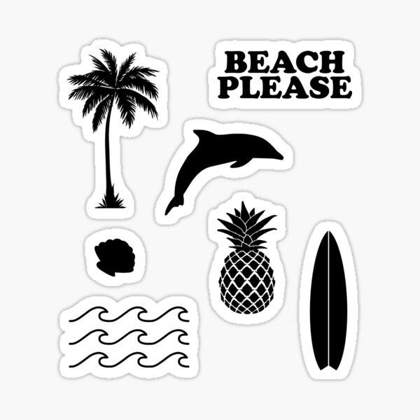 Summer Set of 7 Sticker