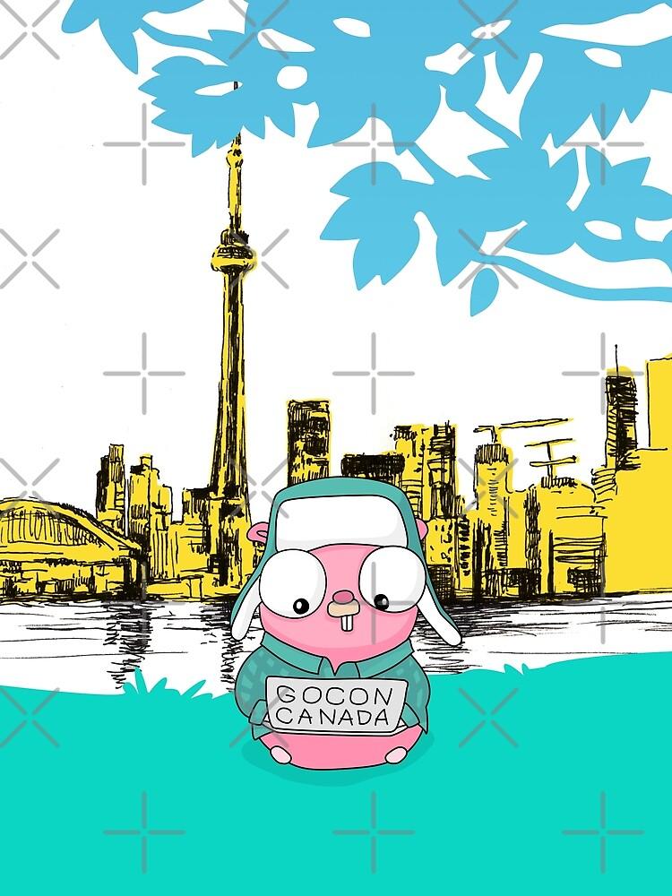 GoCon Canada 2019 Cute Pink Gopher original t-shirt by Moolversin