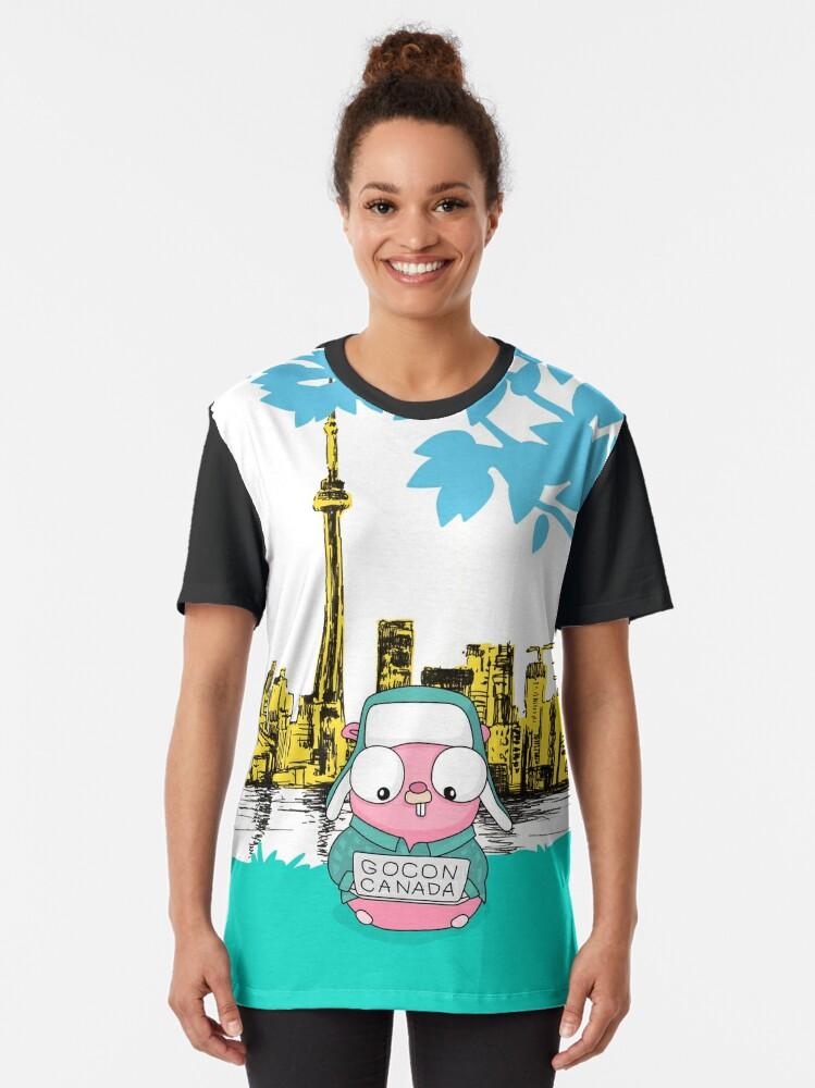 Alternate view of GoCon Canada 2019 Cute Pink Gopher original t-shirt Graphic T-Shirt
