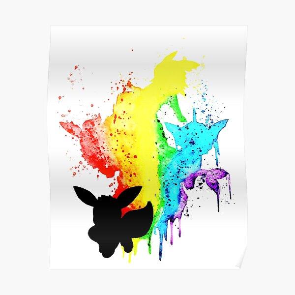 Rainbow Eeveelution Poster