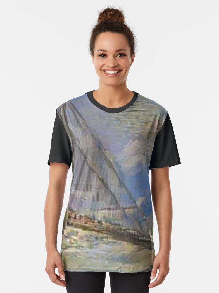 Alternate view of Suspension bridge, Costumeparty, purimparty, halloweencostume, beautifulgirl , kidsfashion, Esther, Ahasuerus, Mordecai Graphic T-Shirt