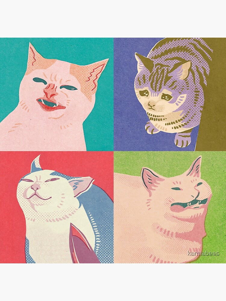 Four Meme Cats of the Apocalypse by karmabees