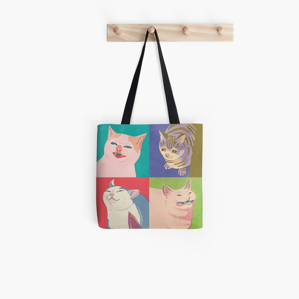 Four Meme Cats of the Apocalypse Tote Bag